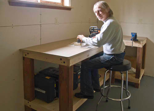 John at Work Bench